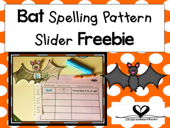 October Bat Spelling Pattern Slider Freebie