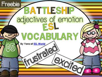 Free Battleship Game {adjectives of emotions} for ESL learners!