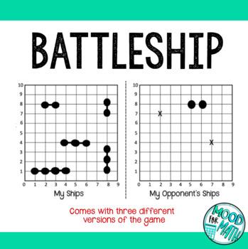 Free Battleship game: Practicing plane graphing