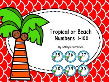 Free Beach/Tropical Numbers 1 To 100