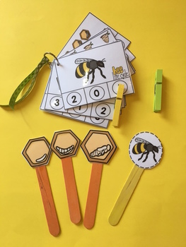Free Bee Clip Cards