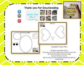 Free Bee Craft Printable