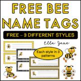 Free Bee Name Tags