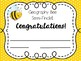 ♥Free-Bee!  Spelling and Geography Bee Certificates! EDITABLE
