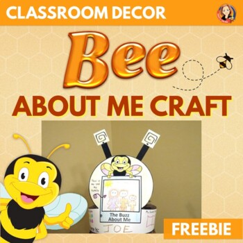 Free Bee Theme Back to School Craft - About Me Hat