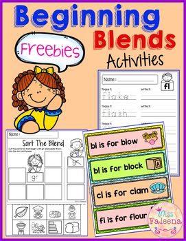Free Beginning Blends Activities