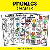 Alphabet Blend and Digraph Phonics Charts