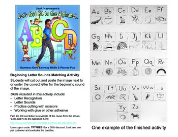 Jack Hartmann Free Beginning Letter Sounds Matching Activity