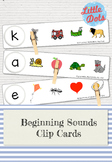 Free Beginning Sounds Clip Cards Printable