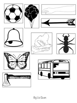 Free Beginning Sounds Picture Sort, Find and Match