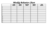 Free Behavior Chart