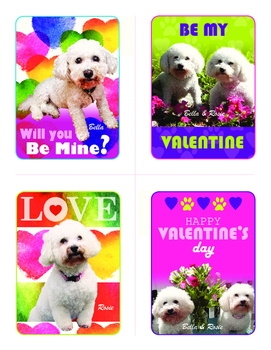 Free Bella and Rosie Valentines (Set of Four) #1