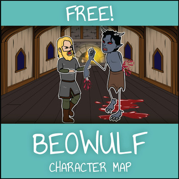 FREE Beowulf Character Map Graphic Organizer