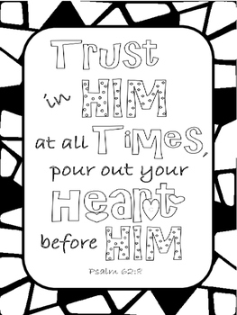 Free Bible Journaling Coloring Pages
