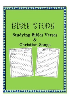 Free Bible Verse Study and Christian Music Worksheets