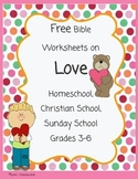 Free Bible Worksheets on Love