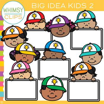 Free Big Idea Kids Clip Art - Set Two