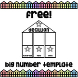 "Free!  ""Big Number"" Place Value Reading Practice Chart - G"