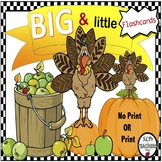 Free Big and Little Fall / Thanksgiving Flashcards. Print