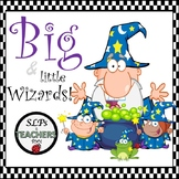 Free Big and Little Wizards Flashcards. Speech and Languag