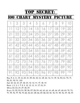 Free Bilingual 100 Chart Mystery Winter Picture (Stuck Santa!)