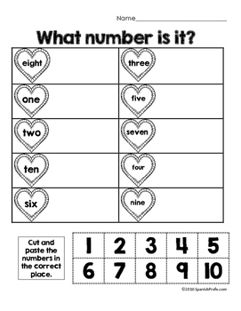 Free Bilingual February Math Worksheets- Kindergarten (Gratis Matematicas)