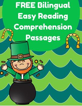 Free Bilingual Reading Passages- St. Patrick's Day (Gratis- Dia de San Patricio)