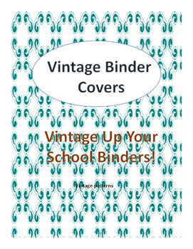 Vintage Up Your Binder Covers