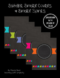 Free Binder Covers (Chalkboard w/ a Splash of Color)