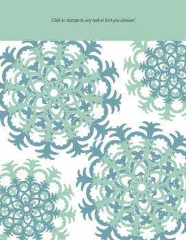 Editable Binder Covers: Lacy Beach Colors