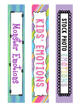 Free Binder Covers and Spines: Emotion Products