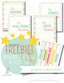 Free Binder Labels- 10 Different Subjects