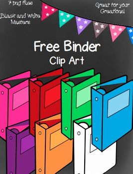 Free Binders Clip Art~ 7 png images