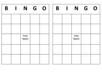 free bingo template by lisa gerardi teachers pay teachers