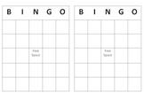 Free Bingo Template