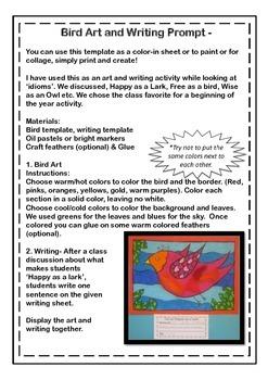 Art Activity & Writing Prompt FREEBIE