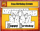 Free Birthday Crown with Balloons from Charlotte's Clips