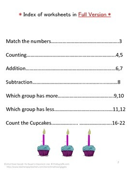 Free Birthday Fun Counting Sampler