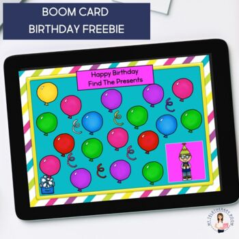Free Birthday Games Would You Rather Boom Card Distance Learning