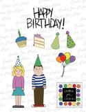 Free Birthday Girl, Boy and birthday accessories