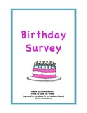 Birthday Survey (months, cardinal and ordinal numbers)