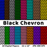 Free Black Chevron Digital Papers, Black Chevron Backgroun