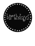 Free Black Cicle Label Pack 2 Birthdays