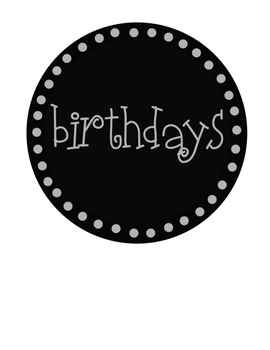 Free Black Cicle Label Pack 2 Birthdays