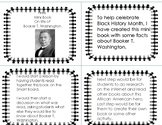 Free Black History Month minibook Booker T. Washington
