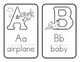 {Free} Black and White Alphabet Cards!