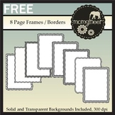 Free Frames: Black and White Clip Art Page Borders {Commercial Use Graphics}