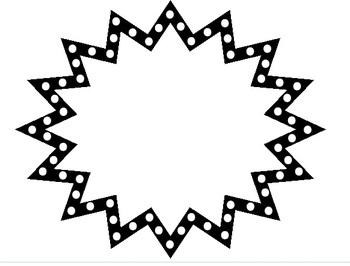 Free Black and White Starburst Frame