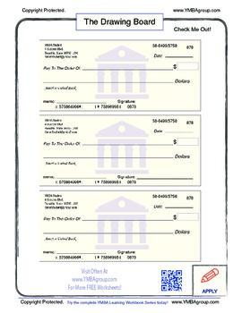 Free Blank Checks Worksheet