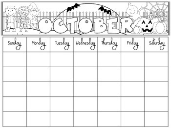Free blank monthly calendars editable by primary for Preschool classroom schedule template